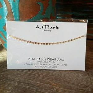 A. Marie Jewelry Aladdin Choker Gold Necklace NWT